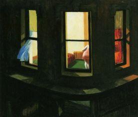 Hopper. Ventanas en la noche